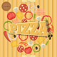 Pizza and The Ingredients for Pizza on the Wood - GraphicRiver Item for Sale