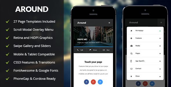 Around | Mobile & Tablet Responsive Template