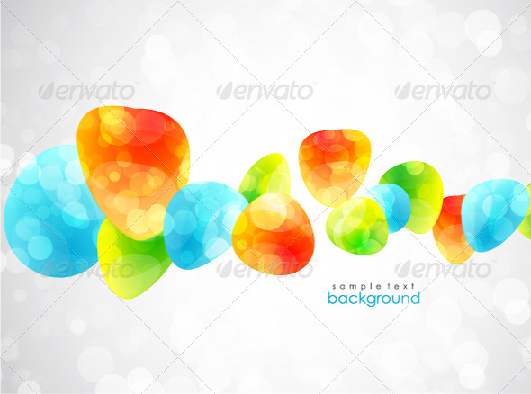 Colorful glossy vector background - Abstract Conceptual
