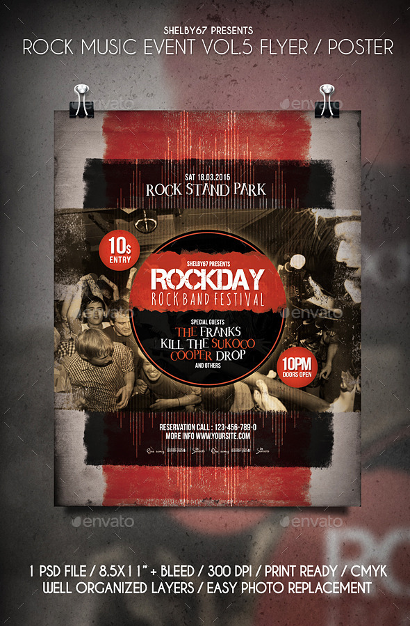Rock Music Event Flyer / Poster Vol.5 - Events Flyers
