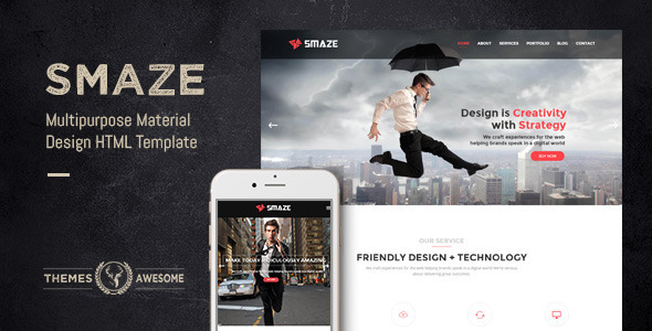 Smaze – Multipurpose Material Design HTML Template