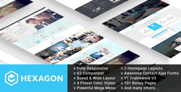 Hexagon – Responsive Multipurpose Business Joomla Template