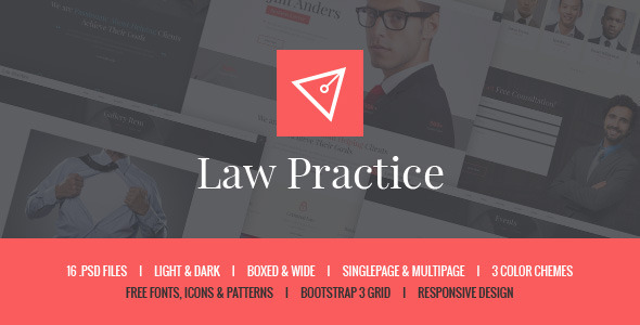 Law Practice – Lawyer & Attorney PSD Template
