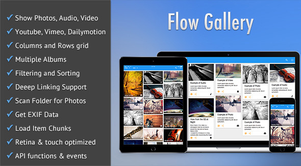 Flow Gallery - HTML5 Multimedia Gallery - CodeCanyon Item for Sale