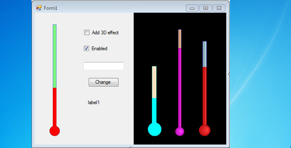 Thermometer Bar for Windows Forms - CodeCanyon Item for Sale