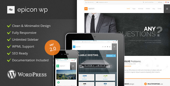 Epicon – Minimalist Multipurpose WordPress Theme