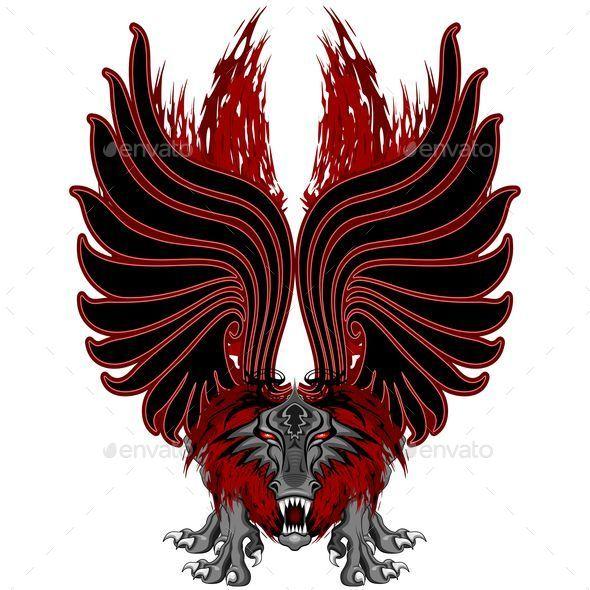 Dragon Gargoyle Tattoo Style - Animals Characters