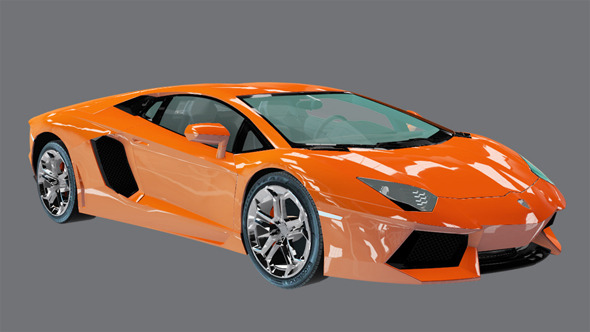 Element 3D Exotic Sport Coupe 3D Car - 3DOcean Item for Sale