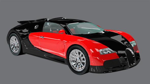 Element 3D Exotic Supercar 3D Car - 3DOcean Item for Sale