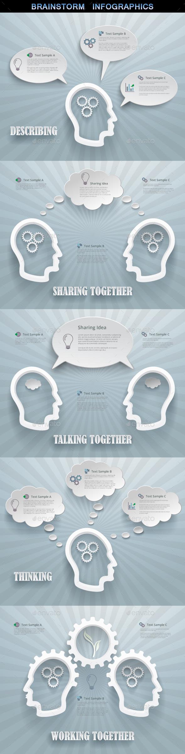 Brainstorm Concept Infographics - Infographics