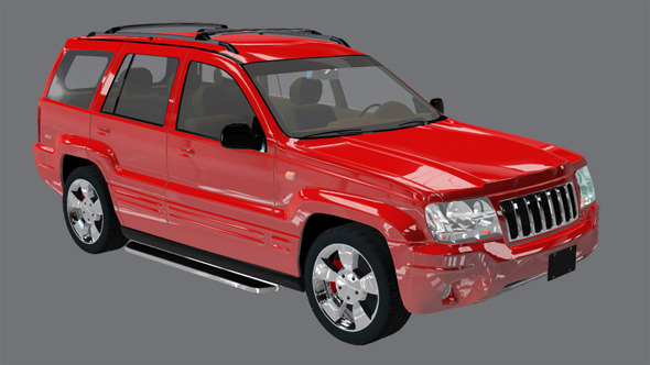 Element 3D Red Suv 3D Car Model - 3DOcean Item for Sale