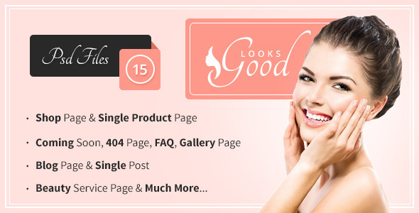 Good Looks – Beauty Salon & Spa PSD Template