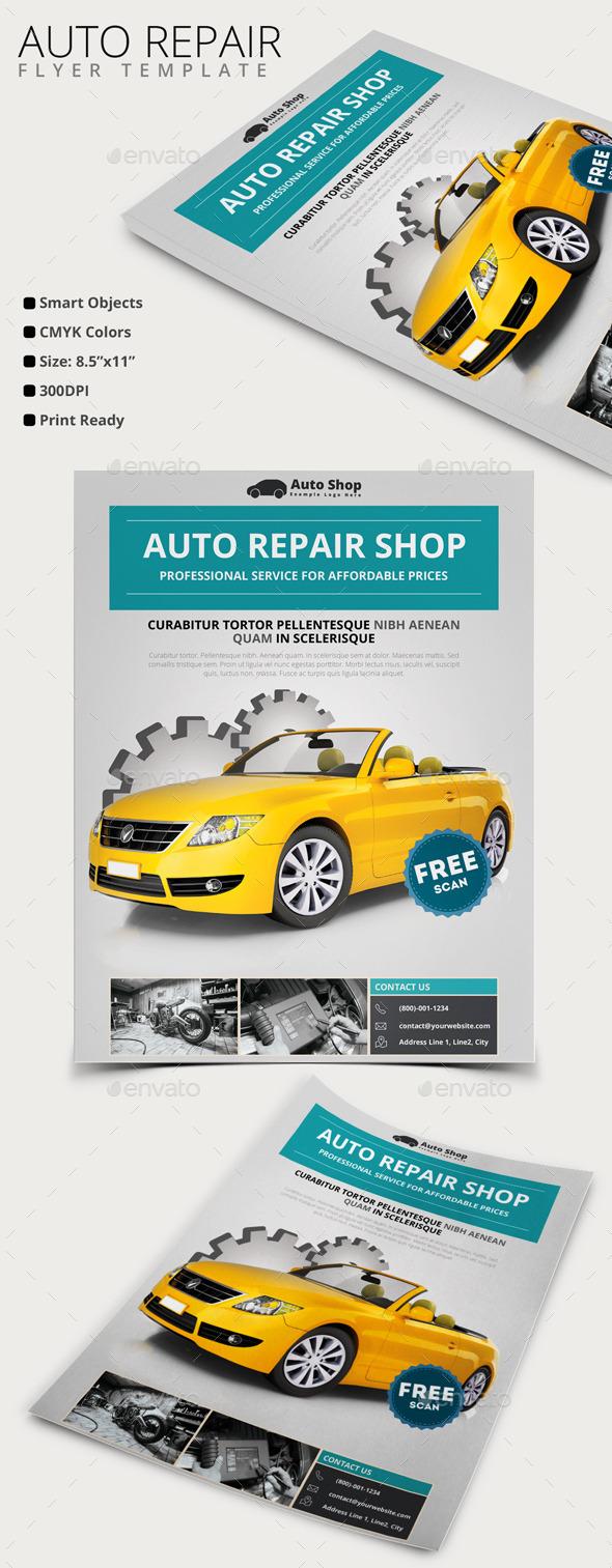 Auto Repair Flyer by pmvch | GraphicRiver