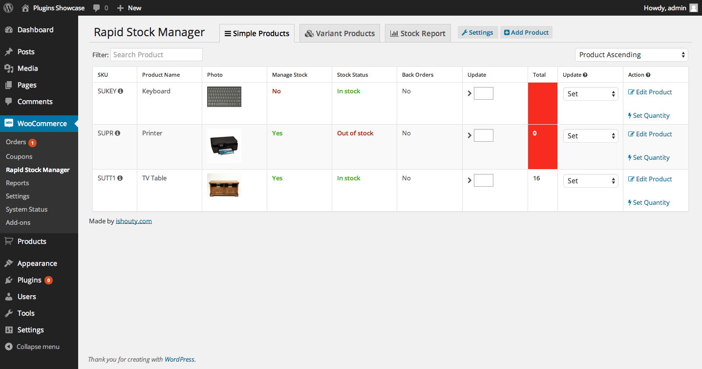 Woocommerce Rapid Stock Manager and Stock Audit also for Multiple Warehouses by ishouty