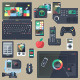 Gadgets & Devices in Flat Design - GraphicRiver Item for Sale