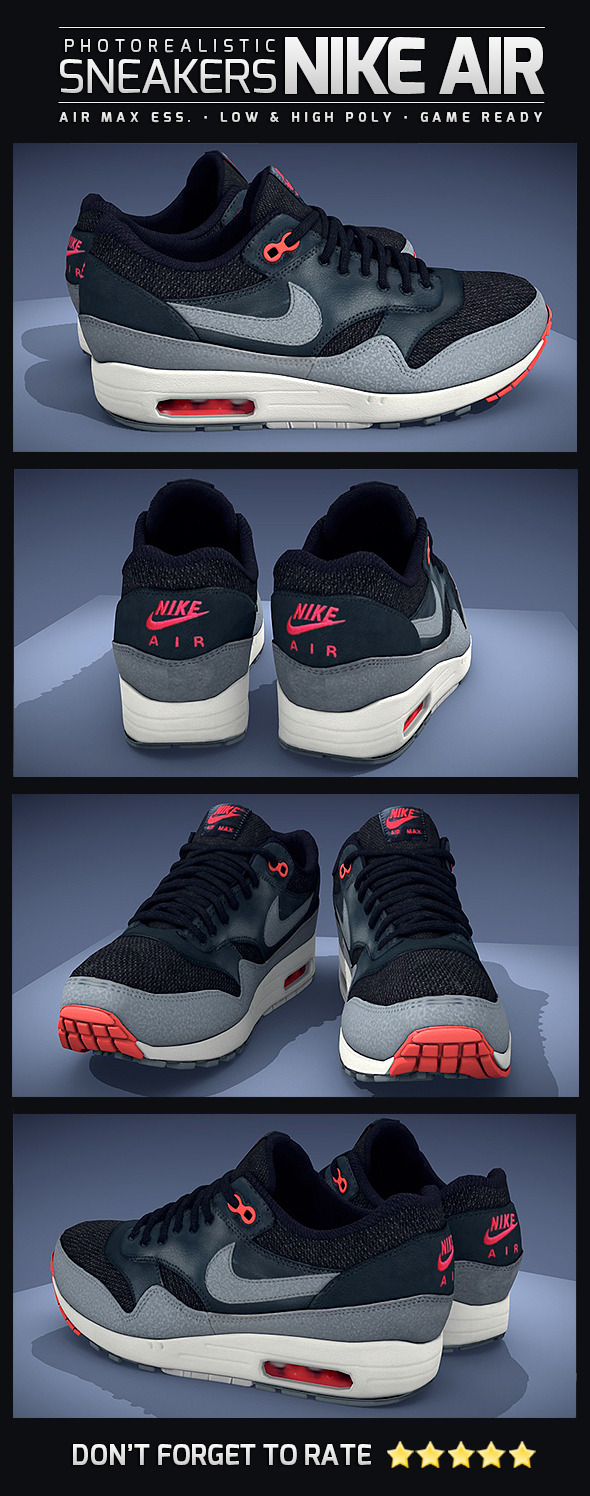 Sneakers Nike Air Max - Photorealistic - 3DOcean Item for Sale