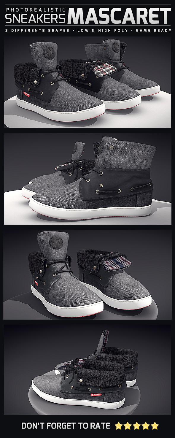 Sneakers Mascaret - Photorealistic - 3DOcean Item for Sale