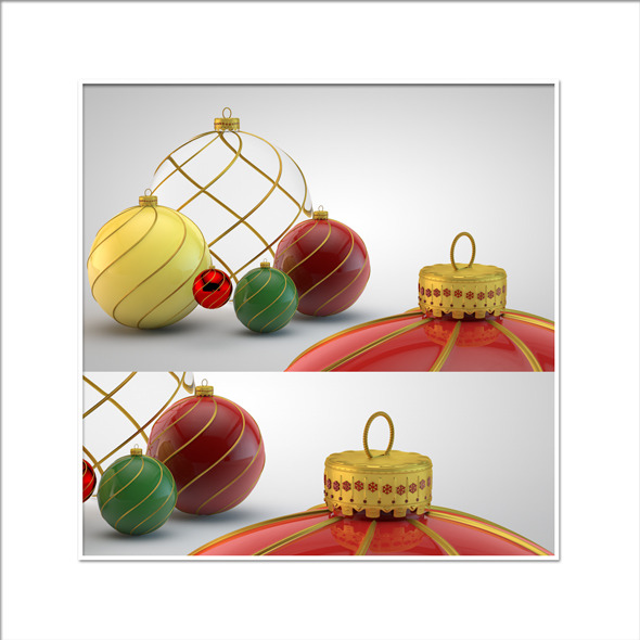Christmas Decoration HiRes Pack 10 - 3DOcean Item for Sale
