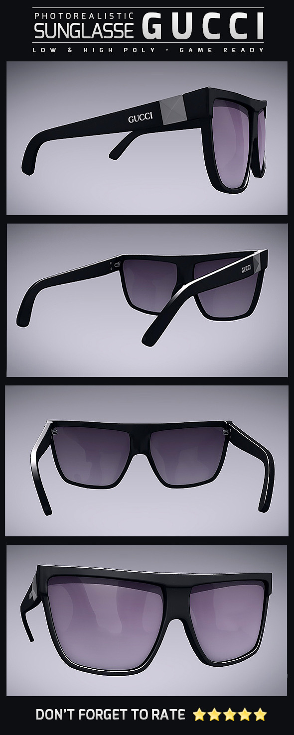 Sunglasse Gucci - 3DOcean Item for Sale