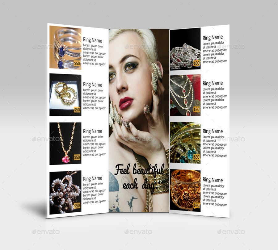 Tri-Fold Jewelry Brochure By Subeigram | Graphicriver