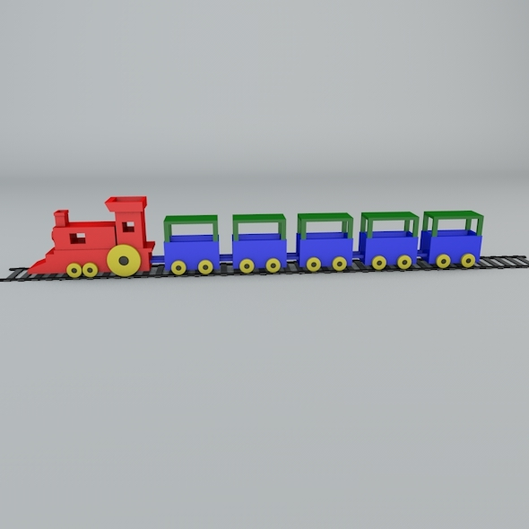 toy train - 3DOcean Item for Sale