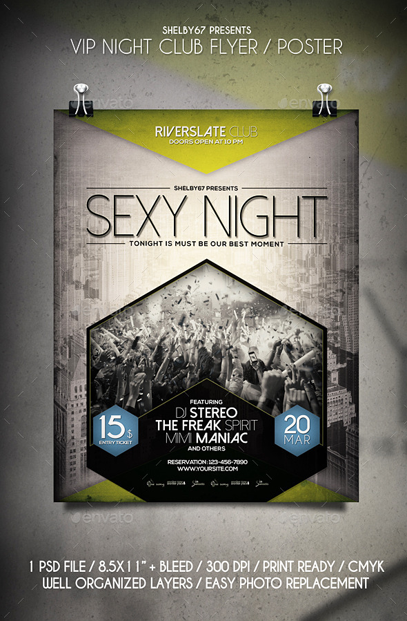 VIP Night Club Flyer / Poster - Clubs & Parties Events