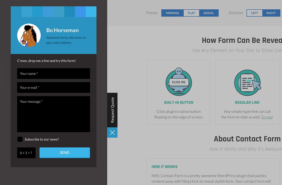 Ninja kick wordpress contact form plugin by looksawesome codecanyon ninja kick wordpress contact form plugin falaconquin