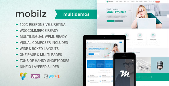 Mobilz – Responsive Multi-Purpose Theme