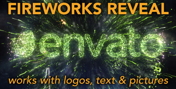 Fireworks Reveal For Logos Text And Pictures
