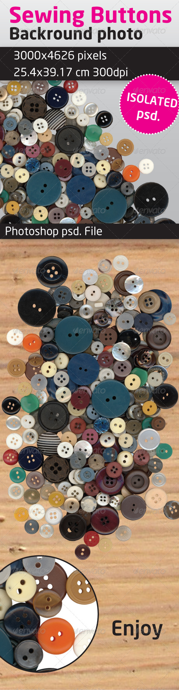 Sewing Buttons Isolated Backround - Clothes & Accessories Isolated Objects