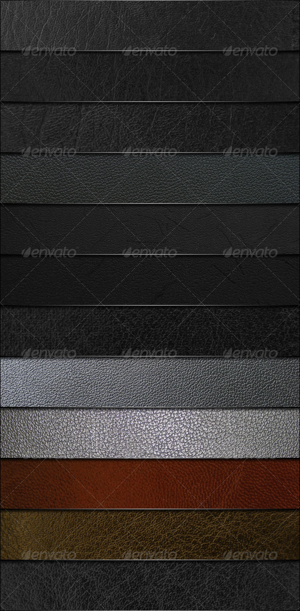 12 Leather Textures - Miscellaneous Textures