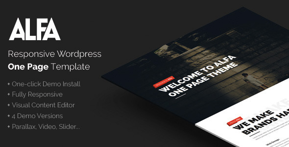 Alfa – Responsive Parallax WordPress Theme