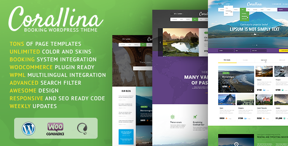 Corallina Booking WordPress Theme