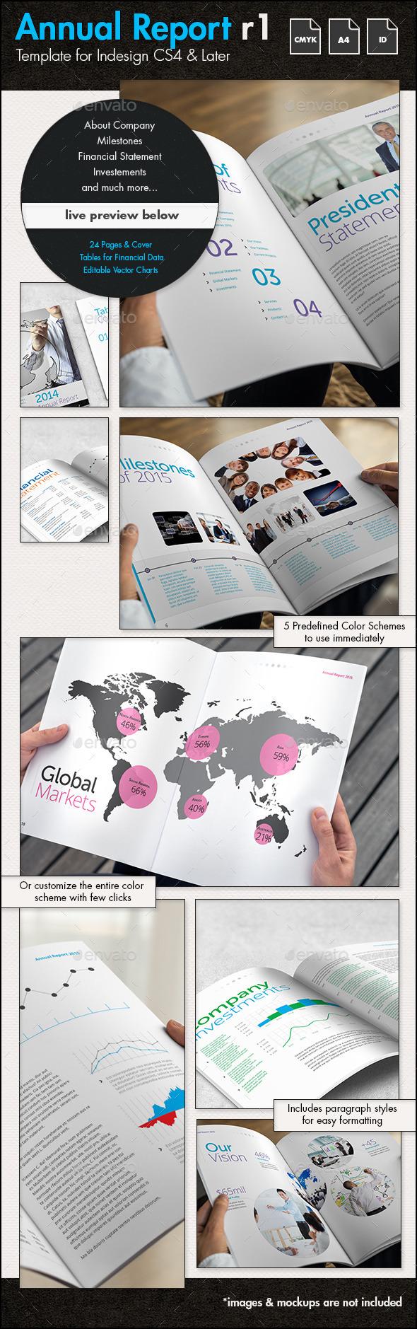 Annual Report r1 Template - A4 Portrait - Corporate Brochures