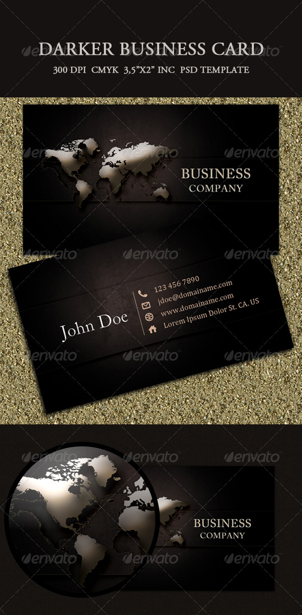 Darker Business Card - Creative Business Cards