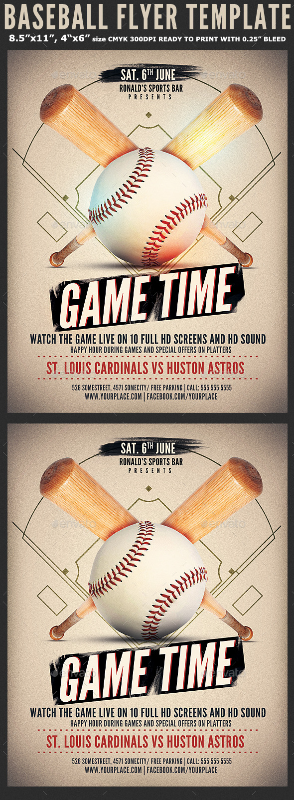 Baseball Game Flyer Template By Hotpin Graphicriver
