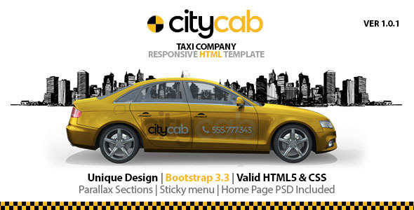 Citycab Taxi Company Responsive Html Template By Dhsign Themeforest
