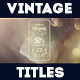 Vintage Titles Pack - VideoHive Item for Sale
