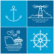 Set of Maritime Icons - GraphicRiver Item for Sale