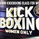 Kickboxing for women facebook cover template Nulled