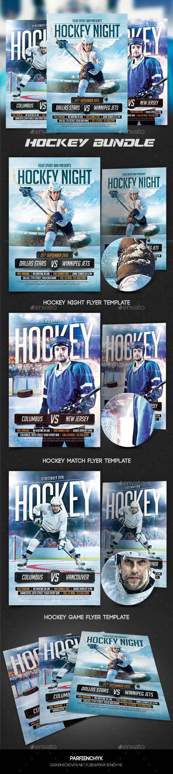 Hockey Flyers Bundle - Sports Events