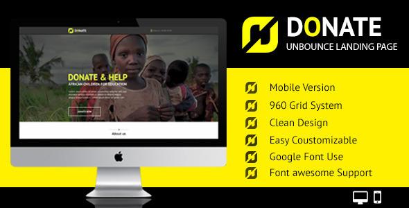 Donate – Unbounce Responsive Nonprofit Landing Page