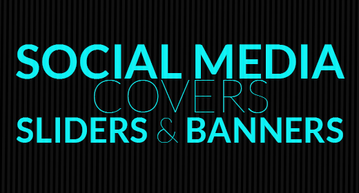 Facebook, Twitter, Instagram, Banners, Sliders