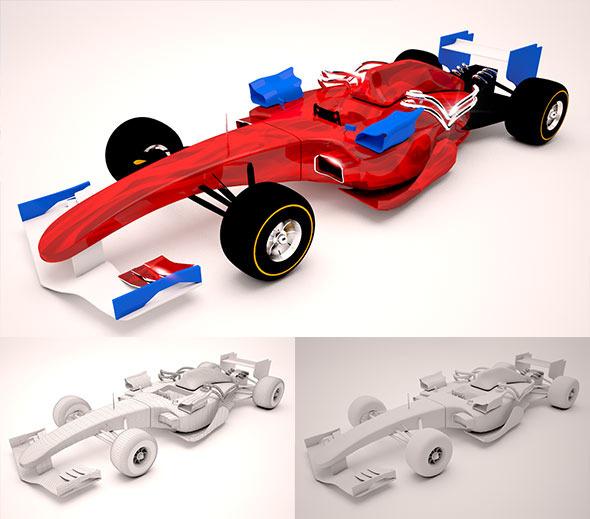 Race Car F1 - 3DOcean Item for Sale