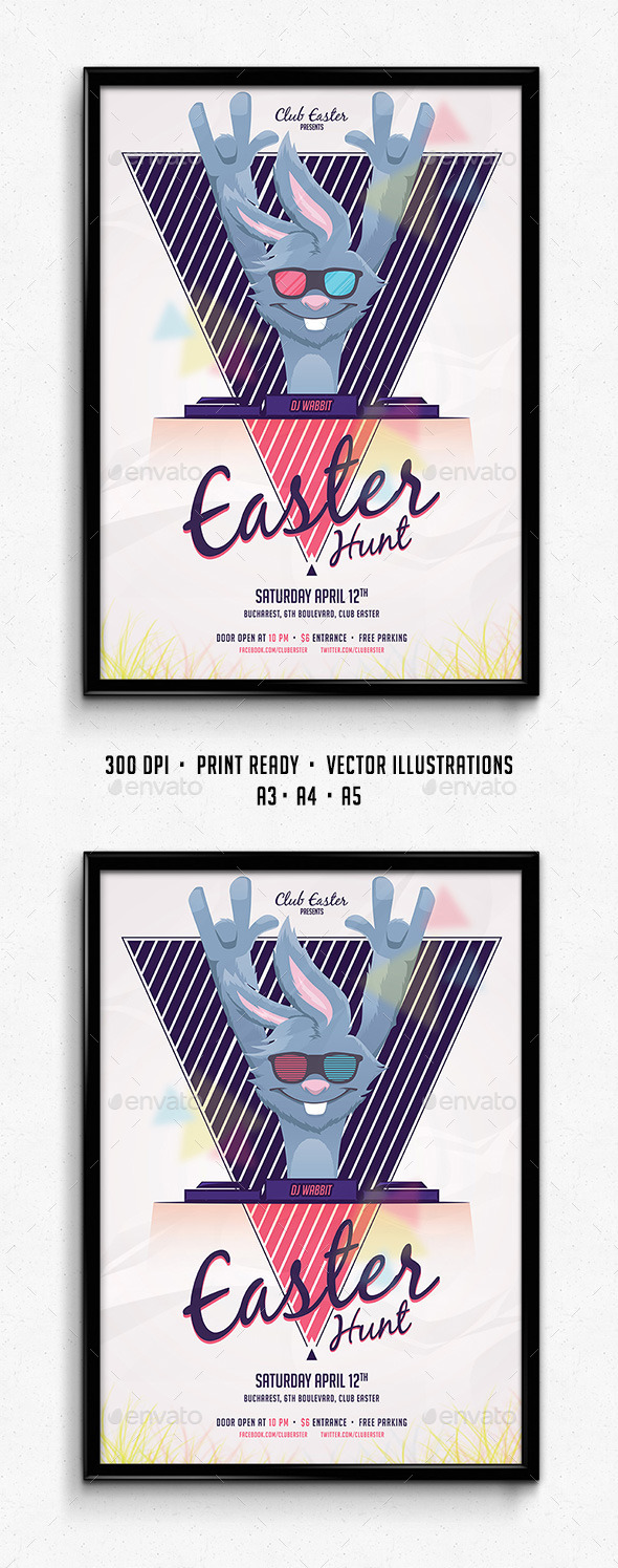 Easter Party Poster - Holidays Events