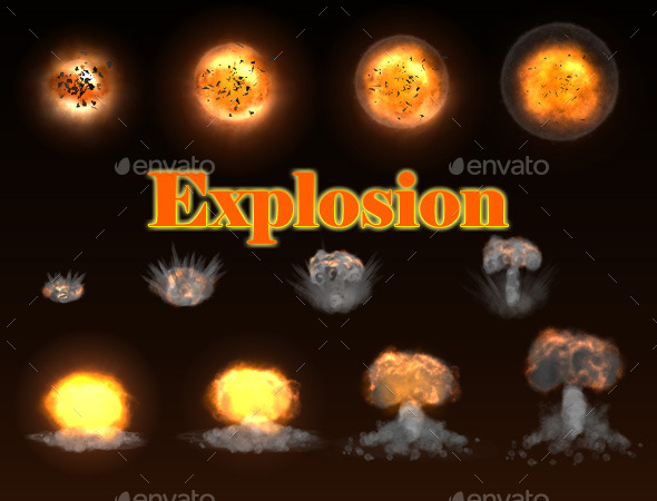 Stylized Explosion - Sprites Game Assets