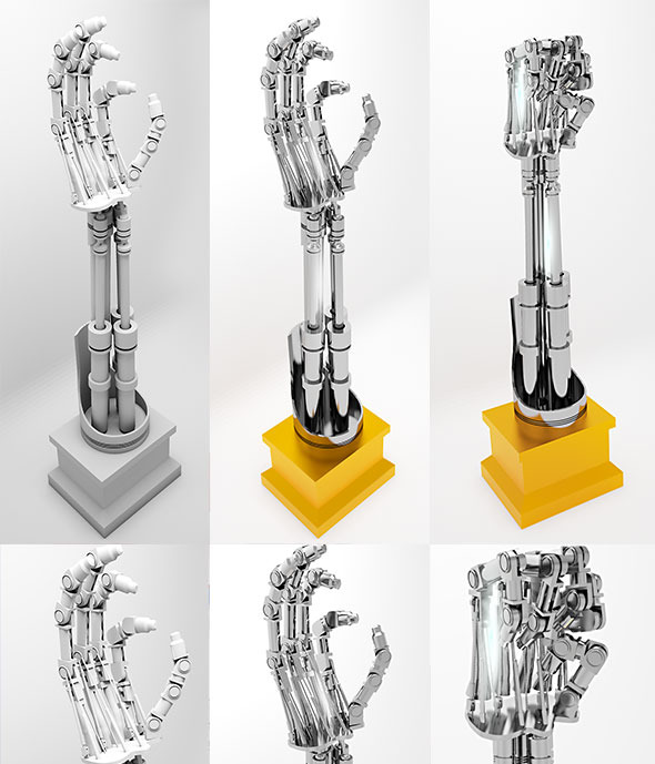 Robot arm terminator - 3DOcean Item for Sale