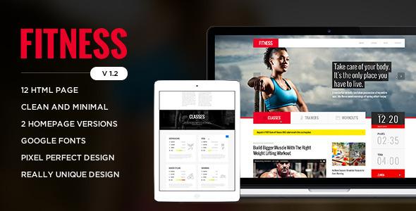 Fitness – Retina Responsive HTML Template