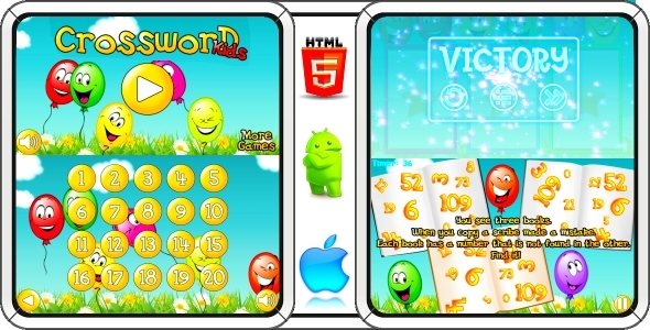 Crossword for Kids - Android Game + AdMob (CAPX) - CodeCanyon Item for Sale