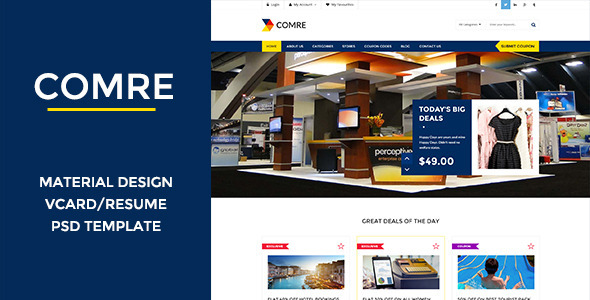 Comre – Coupon & Offers PSD Template
